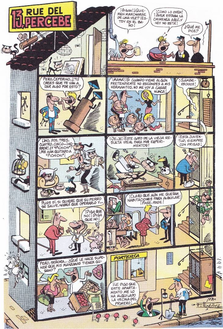 13 Rue del Percebe . Primera historieta publicada en la revista Tio ...