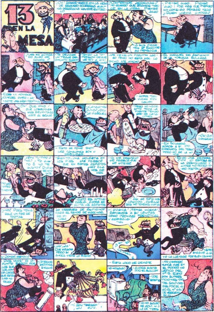Cómic y Rock Carpanta-por-josep-escobar-primera-historieta-publicada-en-la-revista-pulgarcito-numero-4-en-1947