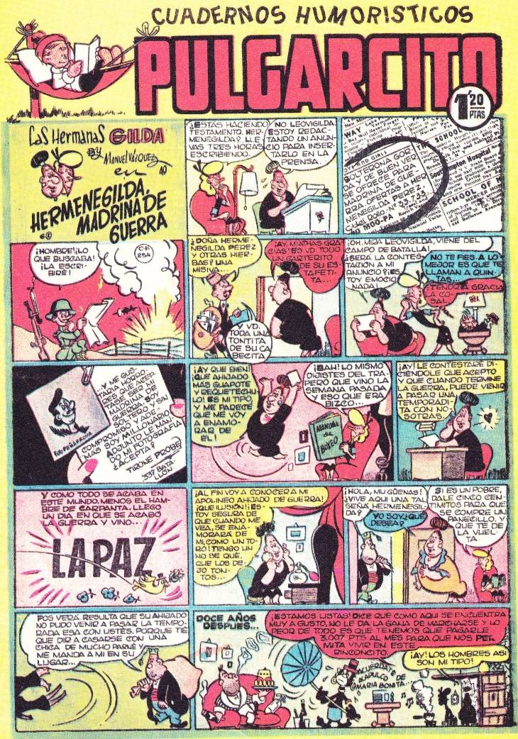 Tebeos - Las Hermanas Gilda. Por Manuel Vázquez